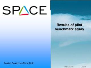 Results of pilot benchmark study