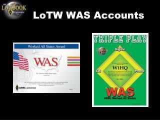 LoTW WAS Accounts