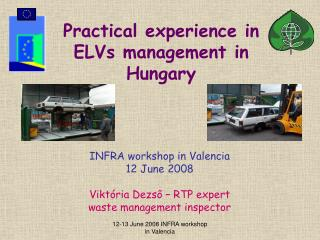 Practical experience in ELVs management in Hungary