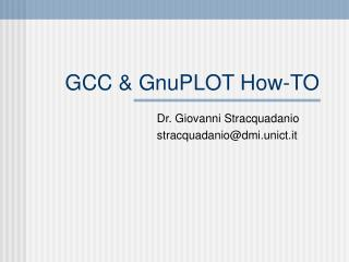 GCC & GnuPLOT How-TO