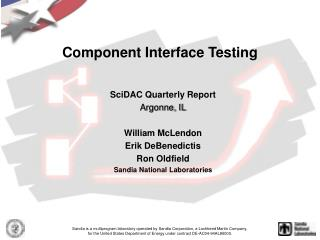 Component Interface Testing