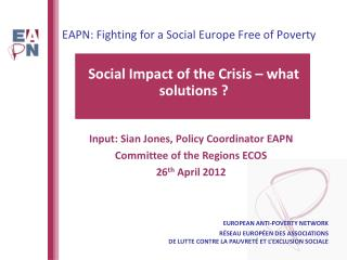 EAPN: Fighting for a Social Europe Free of Poverty