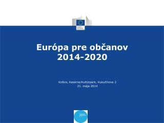 Európa pre občanov 2014-2020