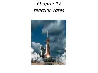 Chapter 17 reaction rates