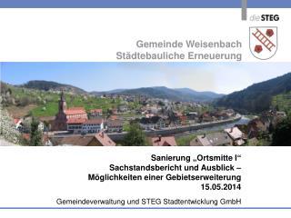 Gemeinde  Weisenbach Städtebauliche Erneuerung