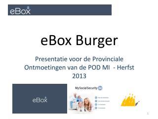 Presentatie voor  de Provinciale  Ontmoetingen  van de POD MI  -  Herfst  2013