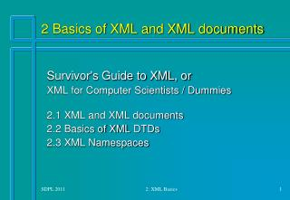 2 Basics of XML and XML documents