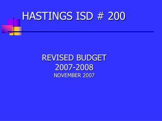 HASTINGS ISD # 200