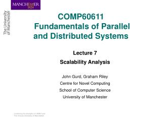COMP60611 Fundamentals of Parallel and Distributed Systems