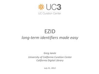 EZID long-term identifiers made easy