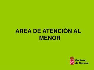 AREA DE ATENCI�N AL MENOR