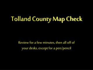 Tolland County Map Check