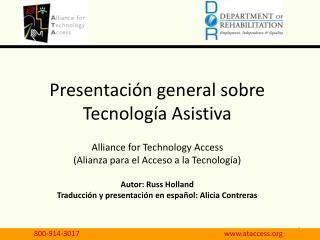 Presentaci�n general sobre Tecnolog�a Asistiva