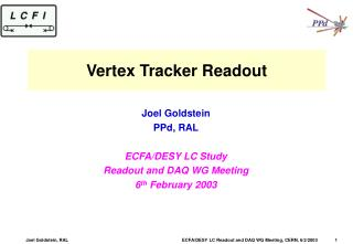 Vertex Tracker Readout