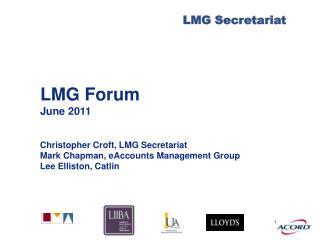LMG Forum June 2011