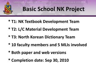 Basic School NK Project