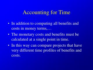 Accounting for Time