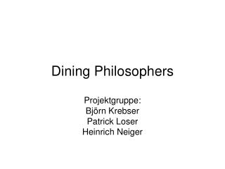 Dining Philosophers