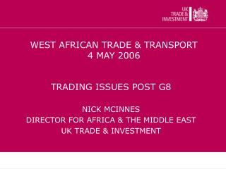 WEST AFRICAN TRADE & TRANSPORT  4 MAY 2006