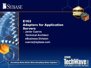 E163  Adapters for Application Servers
