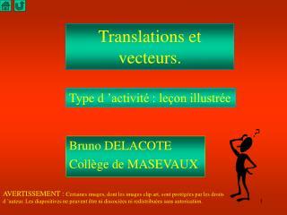 Translations et vecteurs.