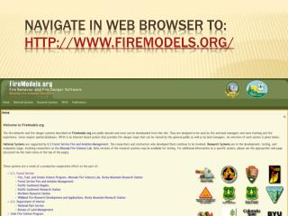 Navigate in web browser to: firemodels/