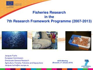 Fisheries Research  in the  7th Research  Framework Programme (2007-2013)