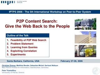 P2P Web Search: Give the Web Back to the People