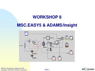 WORKSHOP 8 MSC.EASY5 & ADAMS/Insight