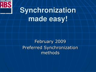 Synchronization  made easy!