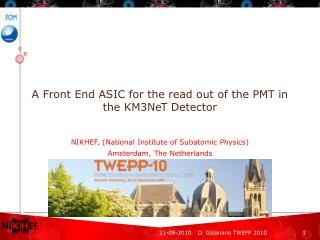 A Front End ASIC for the read out of the PMT in the KM3NeT Detector