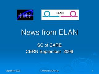 News from ELAN