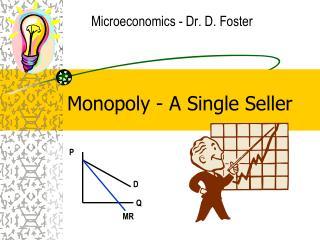 Monopoly - A Single Seller