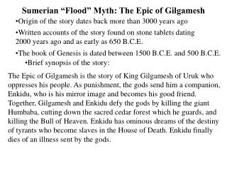 "Sumerian ""Flood"" Myth: The Epic of Gilgamesh"