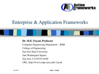 Enterprise & Application Frameworks
