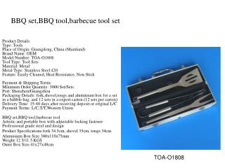BBQ set,BBQ tool,barbecue tool set