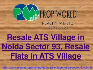 Resale ATS Village in Noida Sector 93, Resale Flats in ATS V