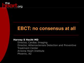 EBCT:  no consensus at all