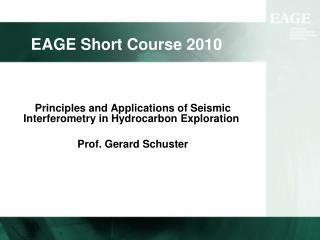EAGE Short Course 2010