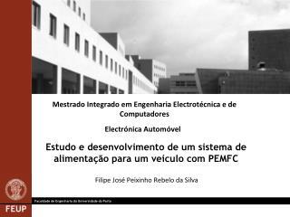 Estudo e desenvolvimento de um sistema de alimentação para um veículo com PEMFC