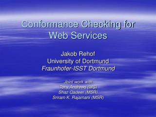 Conformance Checking for Web Services