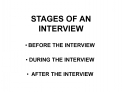 STAGES OF AN INTERVIEW