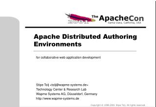 Apache Distributed Authoring Environments