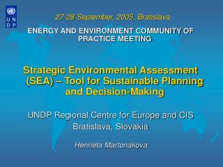 27-28 September, 2005, Bratislava