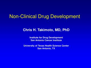 Non-Clinical Drug Development