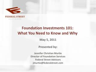 Foundation Investments 101: What You Need to Know and Why