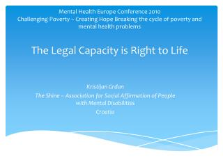 Kristijan Grđan The Shine – Association for Social Affirmation of People with Mental Disabilities