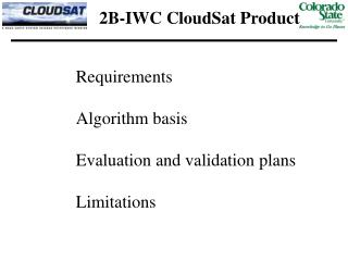2B-IWC CloudSat Product