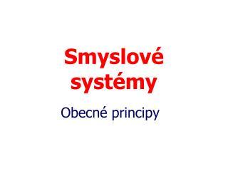 Smyslové systémy