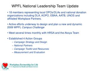 WPFL National Leadership Team Update